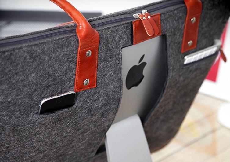 sac de transport pour imac sur un ordinateur apple
