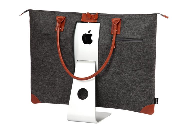 sac lavolta posé sur un ordinateur apple mac