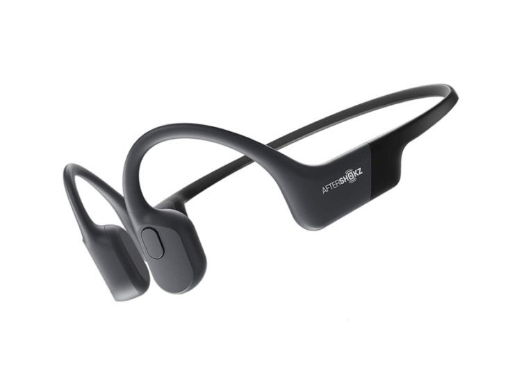 AfterShokz Aeropex sur fond blanc