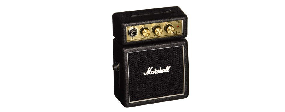 marshall ms2 micro amplificateur de guitare alimenté par batterie