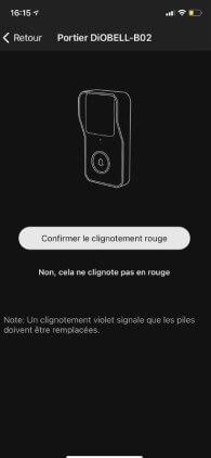 calibrage sonnette connectée par smartphone