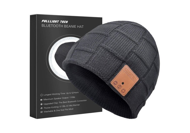 bonnet gris bluetooth beanie