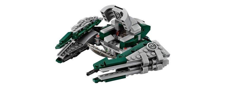 un vaisseau spatial vert