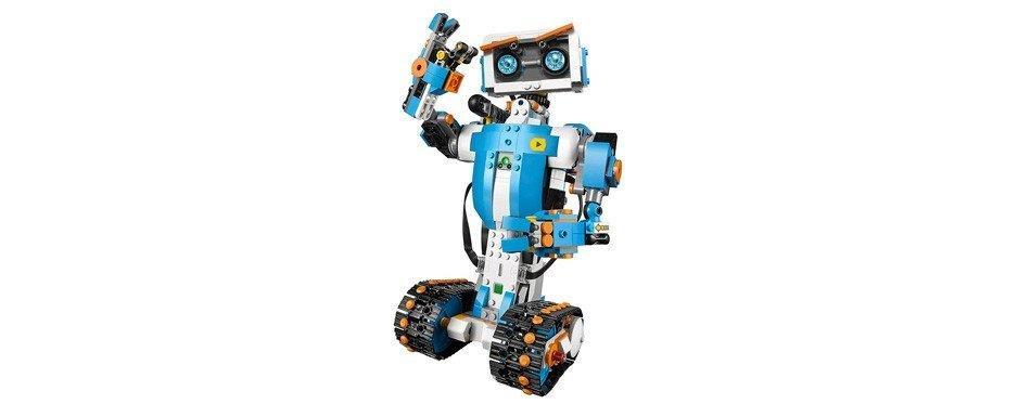 un robot en lgeo bleu