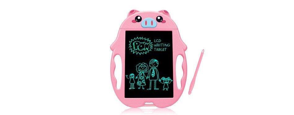 tablette numérique ne forme de cochon