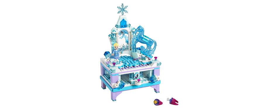 chateau la reine des neiges en bleu glacé