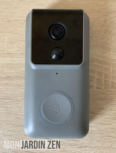 sonnette connectée sans fil grise