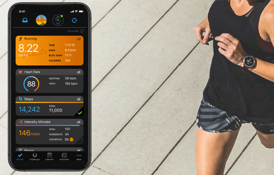 application android et mac pour smartphone pour suivre performances en temps réel