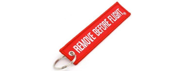 porte clef pour fan d'aviation rouge