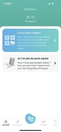 application iopool calibrage produits entretien