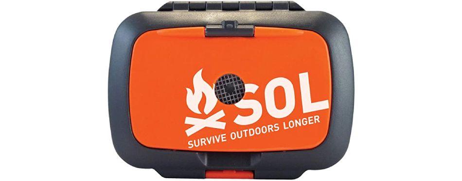 Boîte de survie orange multi outils