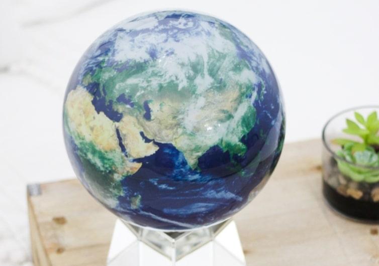 mova globe terre vue de dessus