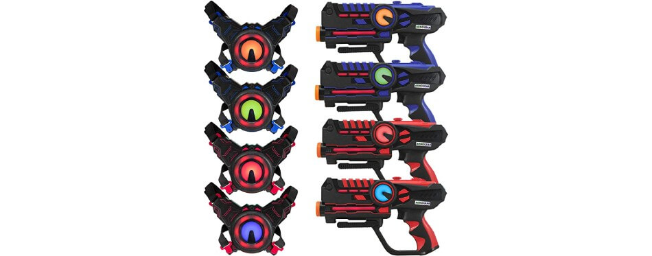 4 pistolets laser noire