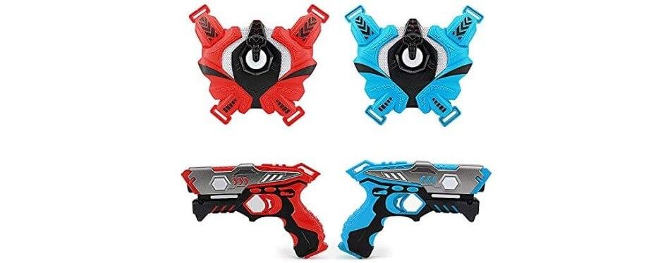 fusil laser game rouge et bleu