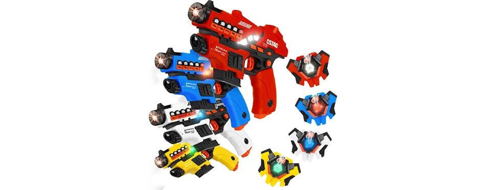 4 pistolets laser game pour enfants