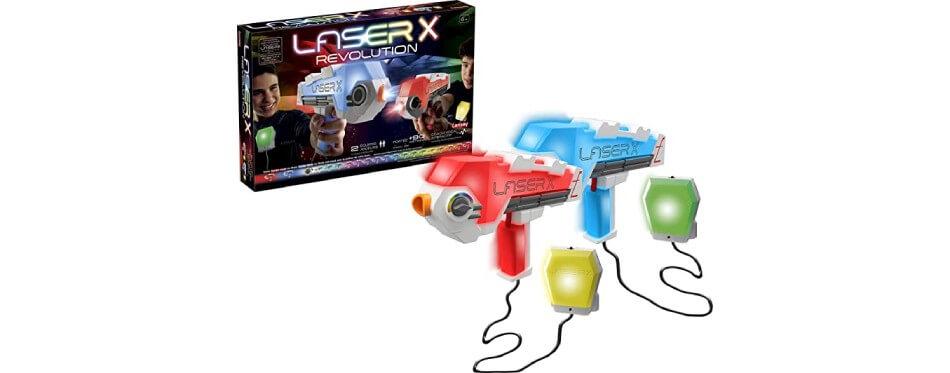 2 jouets laser game rouge et bleu