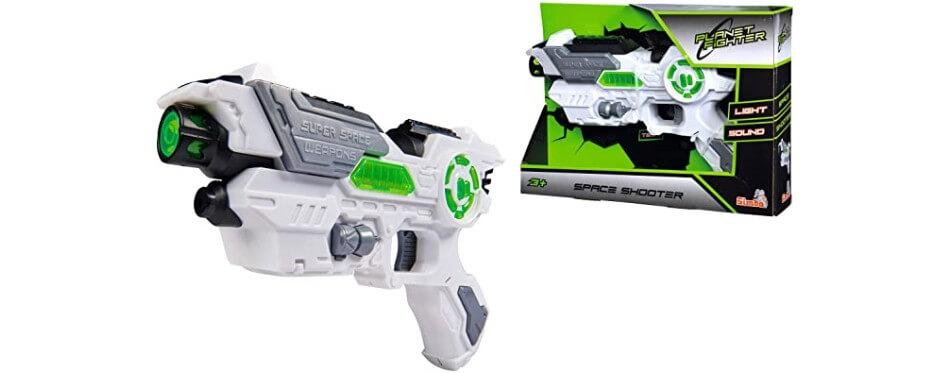 pistolet laser game vert