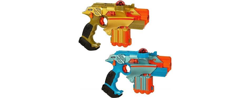 2 gros pistolets laser nerf