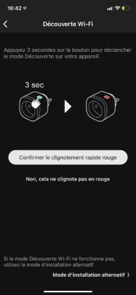 page application smartphone appairage connect plug