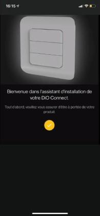 application smartphone dio one bienvenue dans l'installation