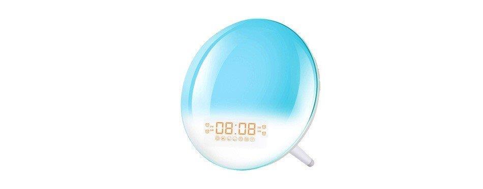 lampe bleue qui simule le lever du soleil