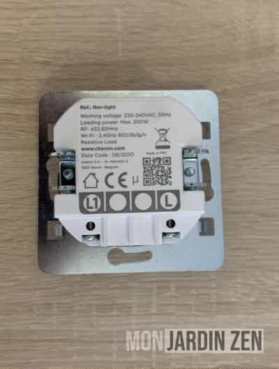 tranche de l'interrupteur rev-light