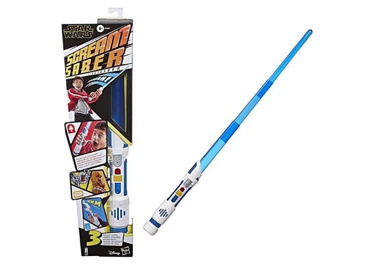 Emballage boîte du sabre laser screamsaber de hasbro pour jouer