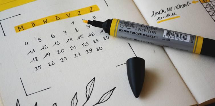 calendrier pour noter anniversaires