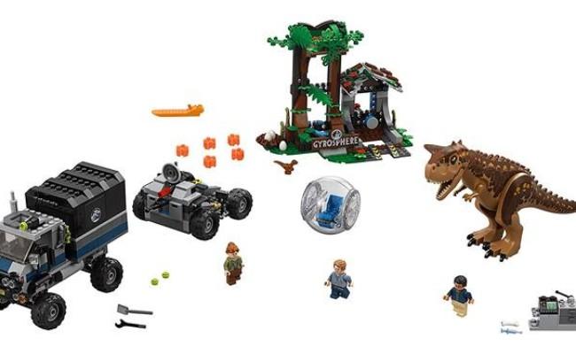 LEGO Jurassic World - Le Carnotaurus et la fuite en Gyrosphère