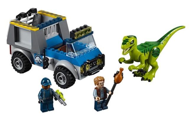 imageLEGO Juniors Jurassic World - Le camion de secours des raptors