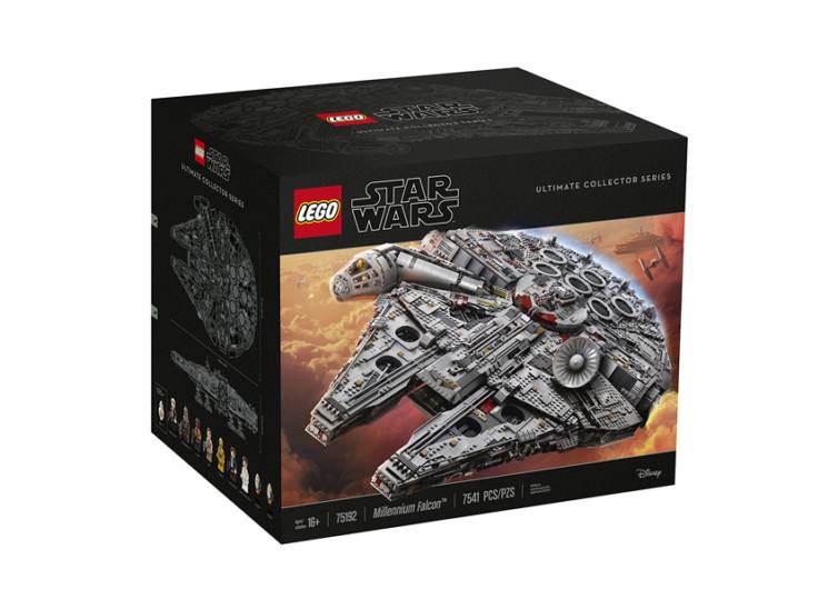 la boîte de jeu lego star wars faucon millenium