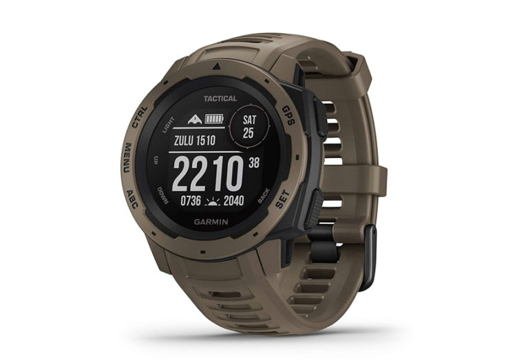 montre garmin instinct tactical couleur verte de face
