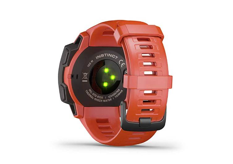 montre tactique couleur orange avec led