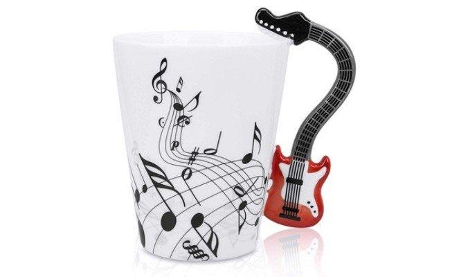 image Mug Notes de musique et guitare