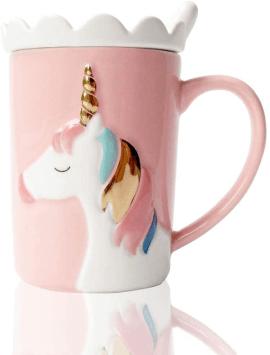 Mug Licorne magique rose