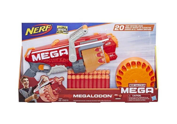 boîte de jeu du pistolet nerf à fléchettes oranges