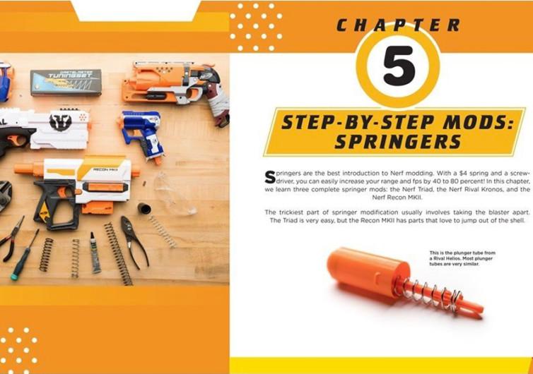 intérieur du livre pour modifier les pistolets de jeu à fléchettes