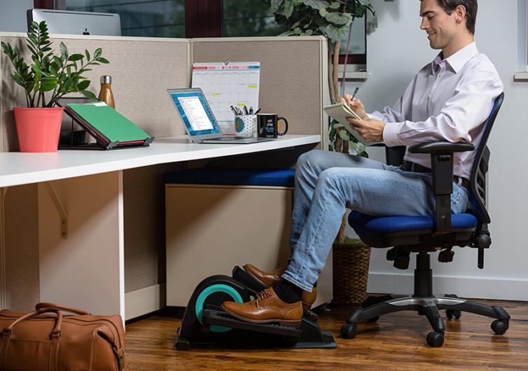 appareil fitness cubii sous bureau